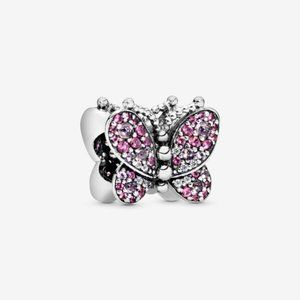 Pandora  Pink Pave Butterfly Charm